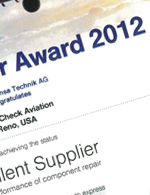 Lufthansa MRO Award 2012